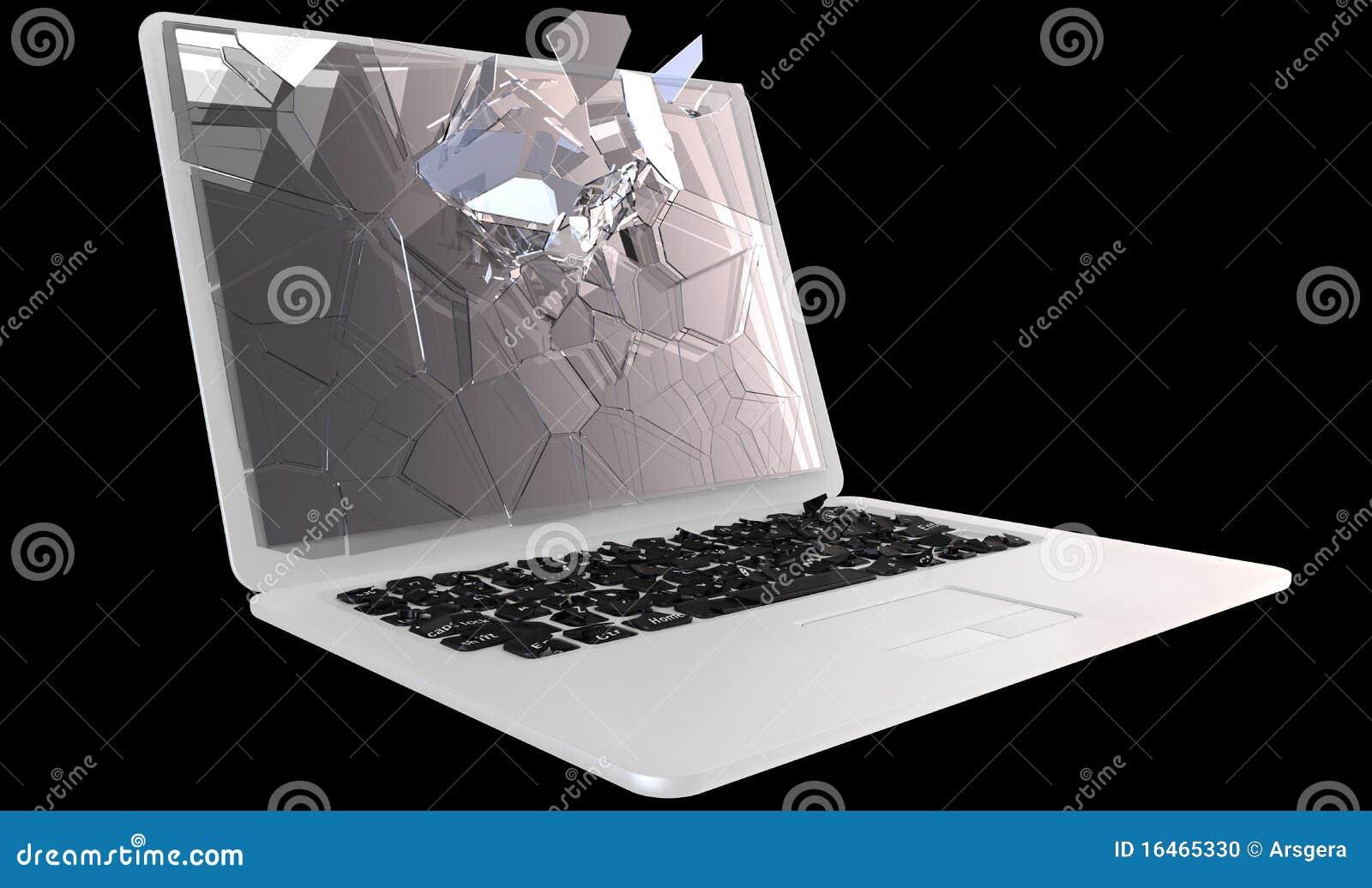 Cybercrime Laptop Pc Crash Stock Photo Image 16465330