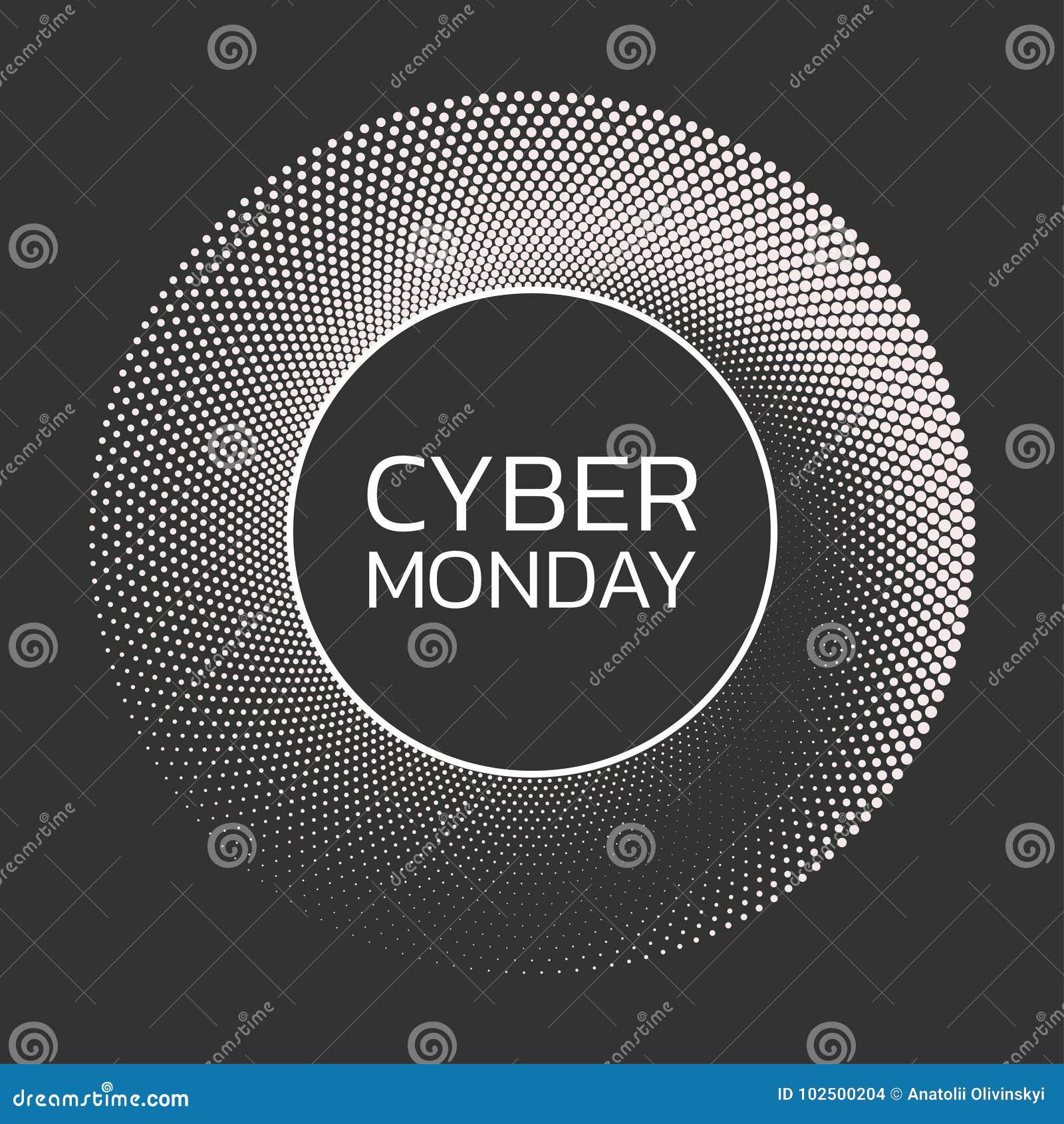 Cybermontag-Verkaufshintergrund Fahnenschablone Auch im corel abgehobenen Betrag