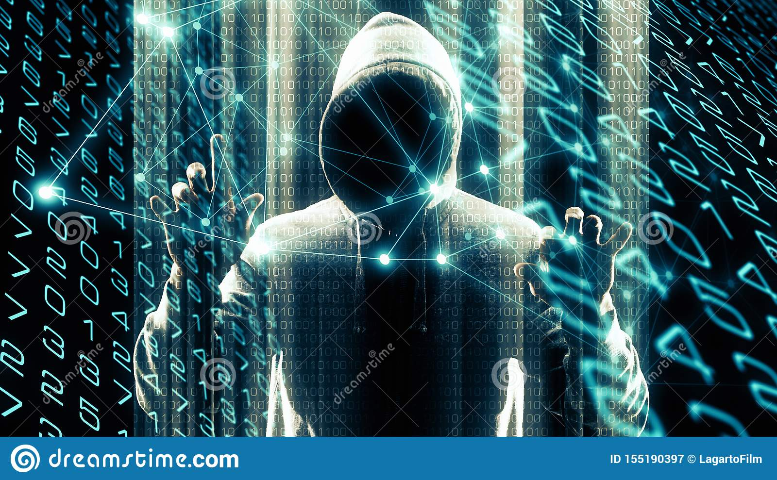 Cybernetic Data Analytics Computer Science Future Stock Image Image Of Futuristic Digital 155190397