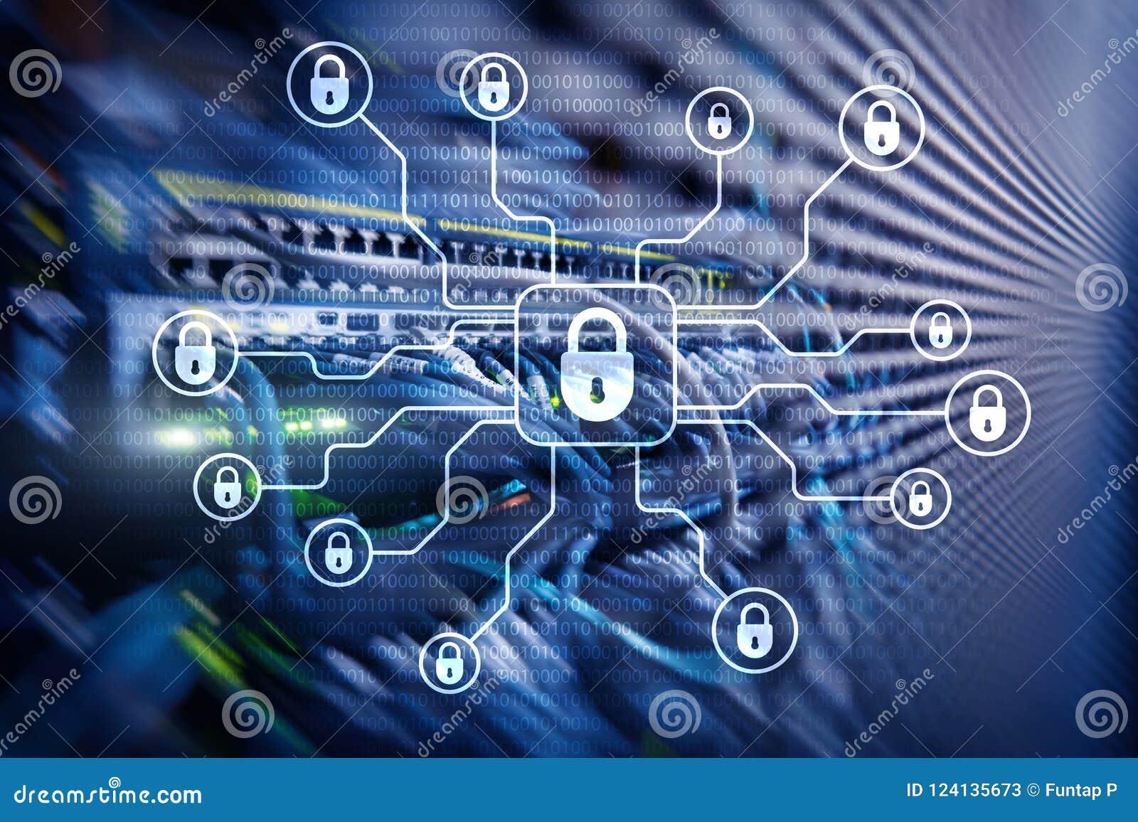 Cybersäkerhet, dataskydd, informationsavskildhet Internet- och teknologibegrepp