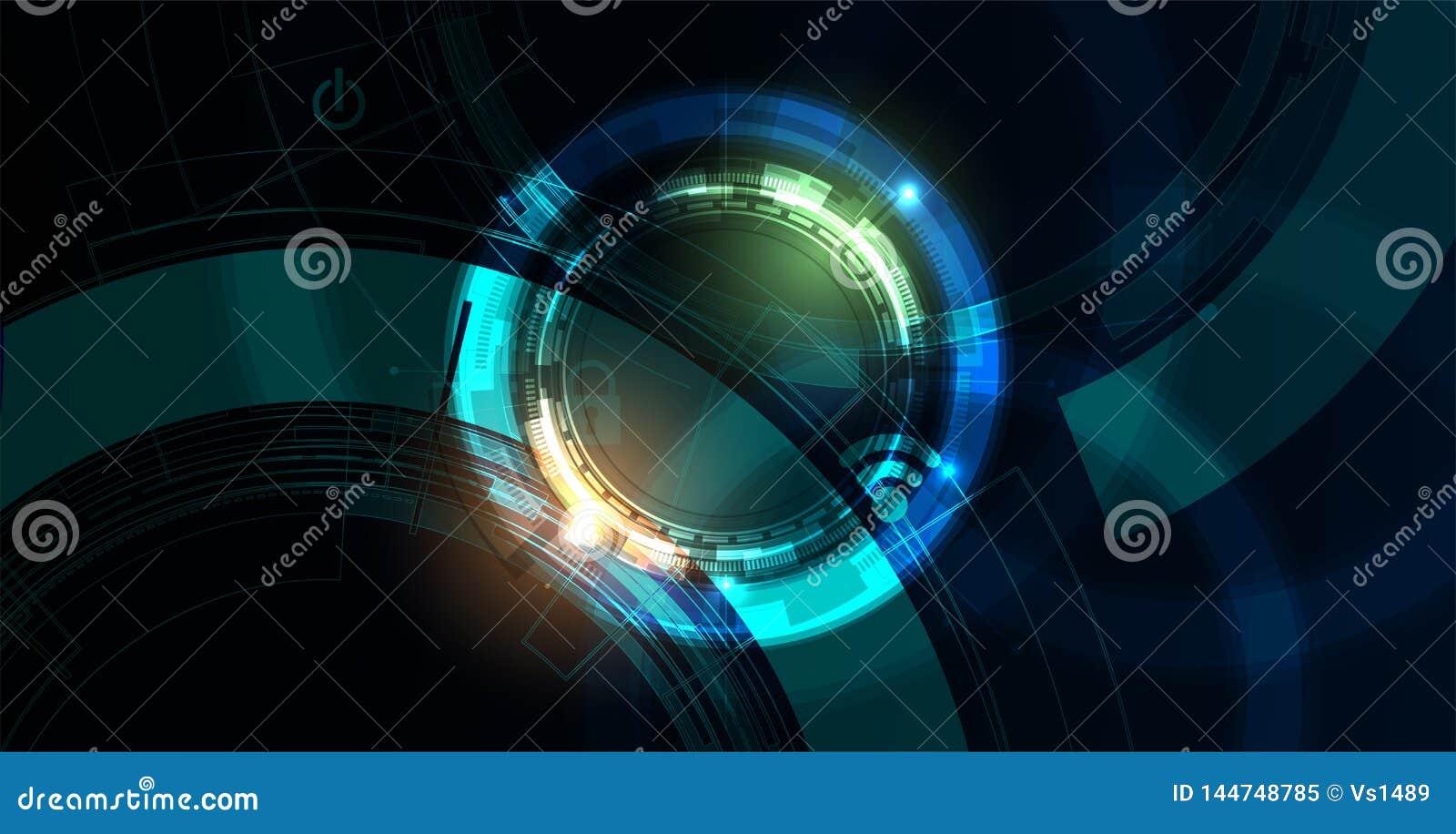 Cybersecurity和信息或网络保护 事务和互联网项目的未来技术网站服务