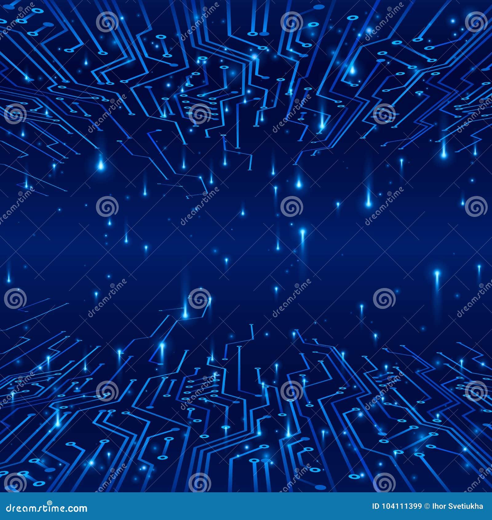Circuito Y : Cyberspace concepto de un fondo futurista pistas en el circuito y