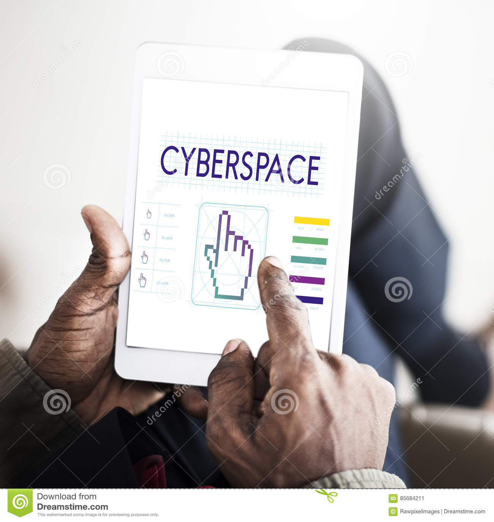 Cyberspace Links Seo Webinar Hand Concept