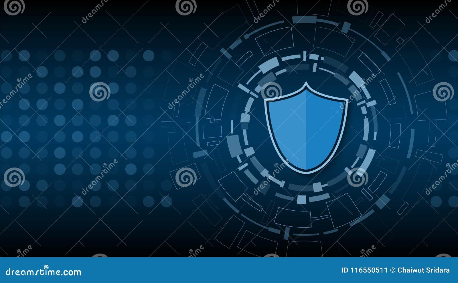 Cyberteknologisäkerhet, design för nätverksskyddsbakgrund,