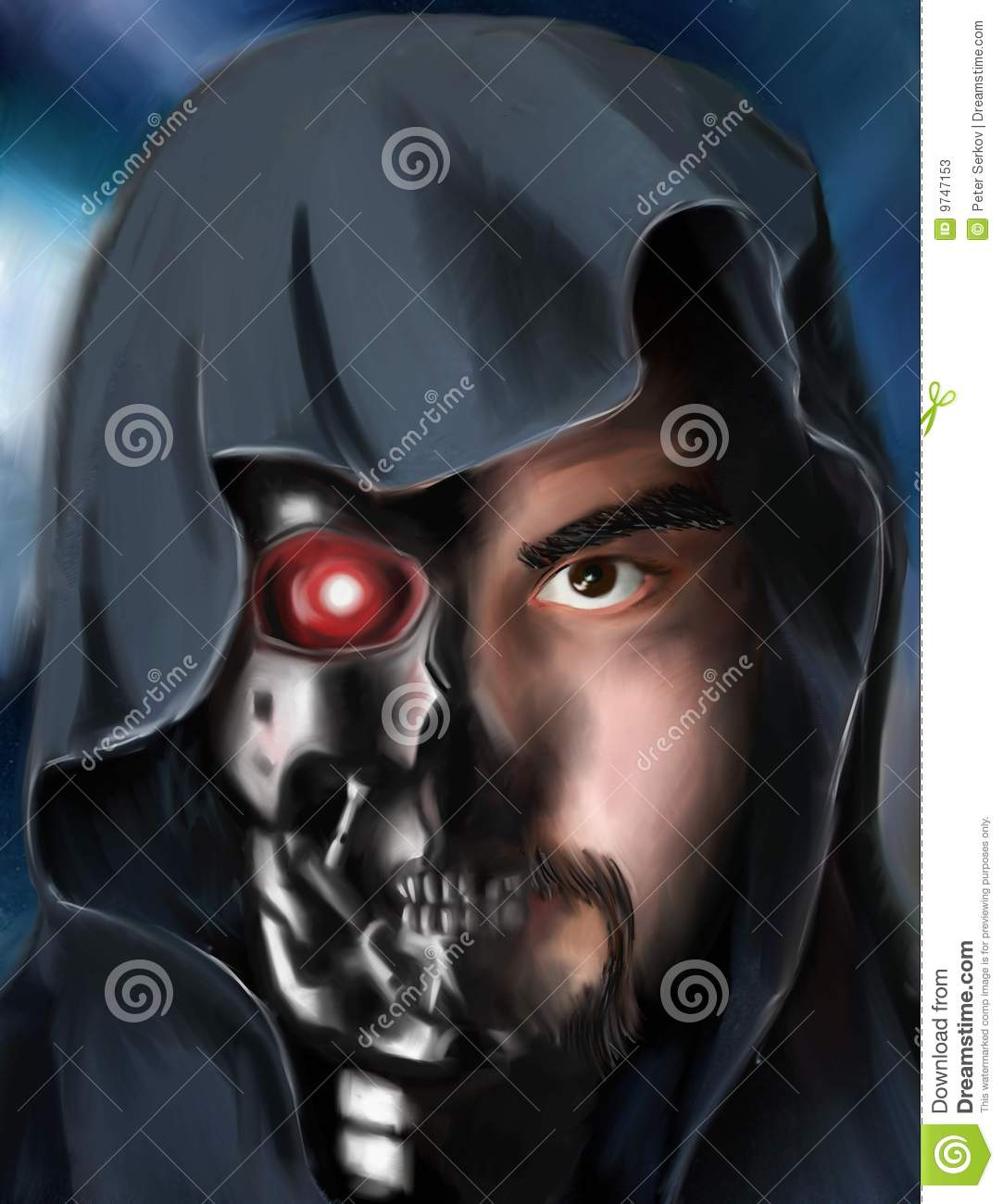 Cyborg stock illustration. Illustration of salvation ...
