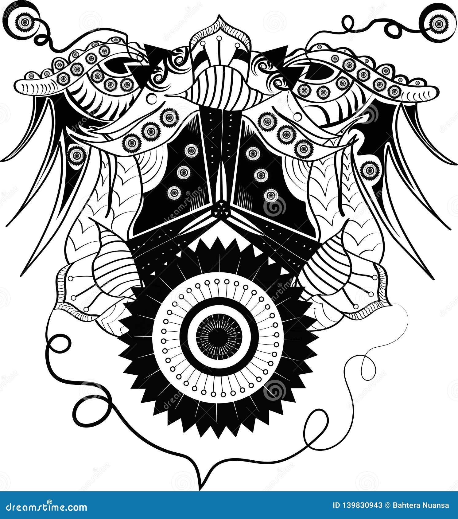 Cyborg abstrait d ornement