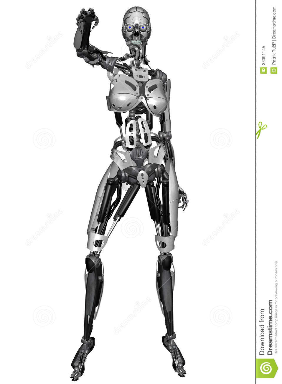 cyborg woman royalty free stock photo