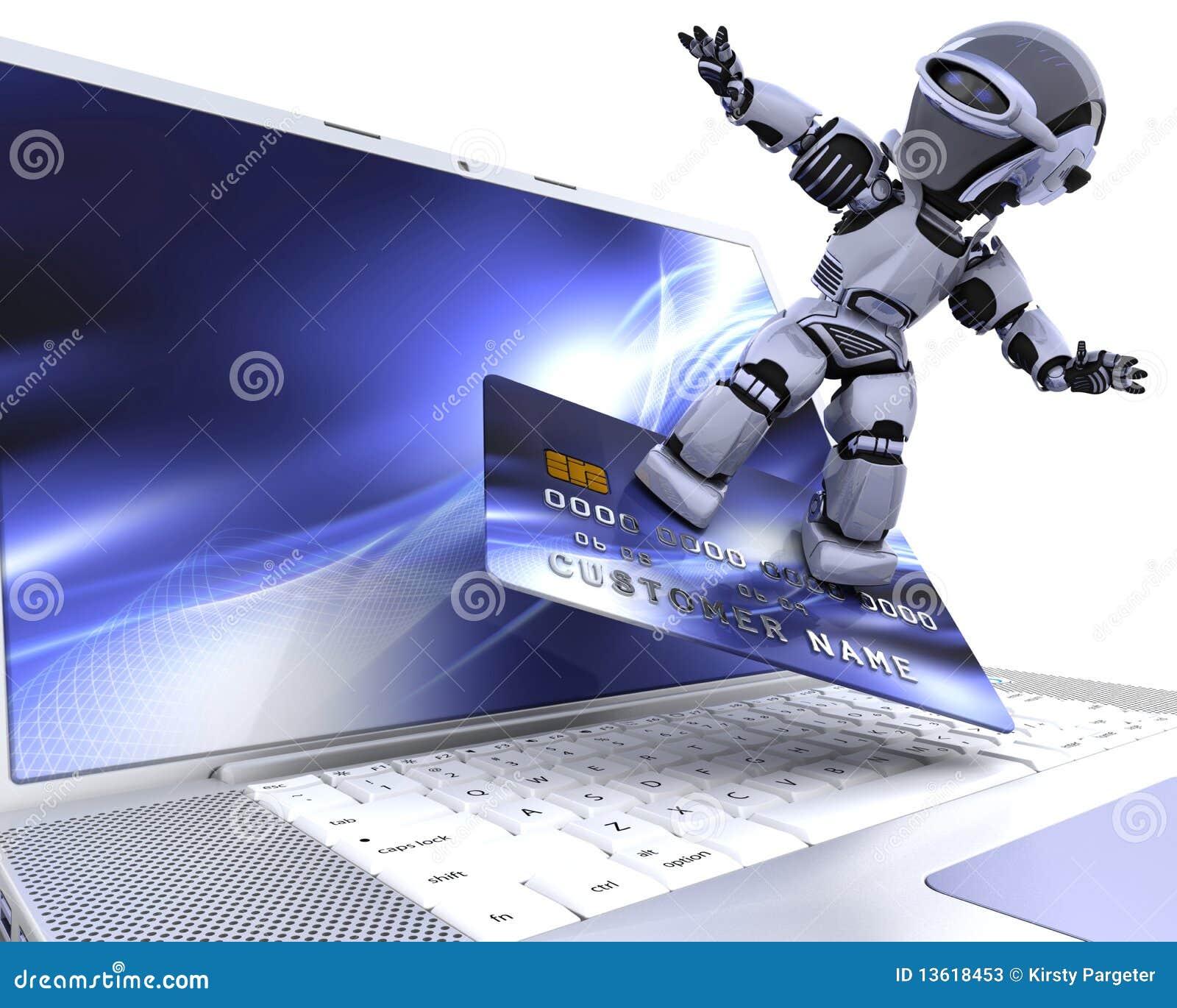 Cyborga śliczny robot
