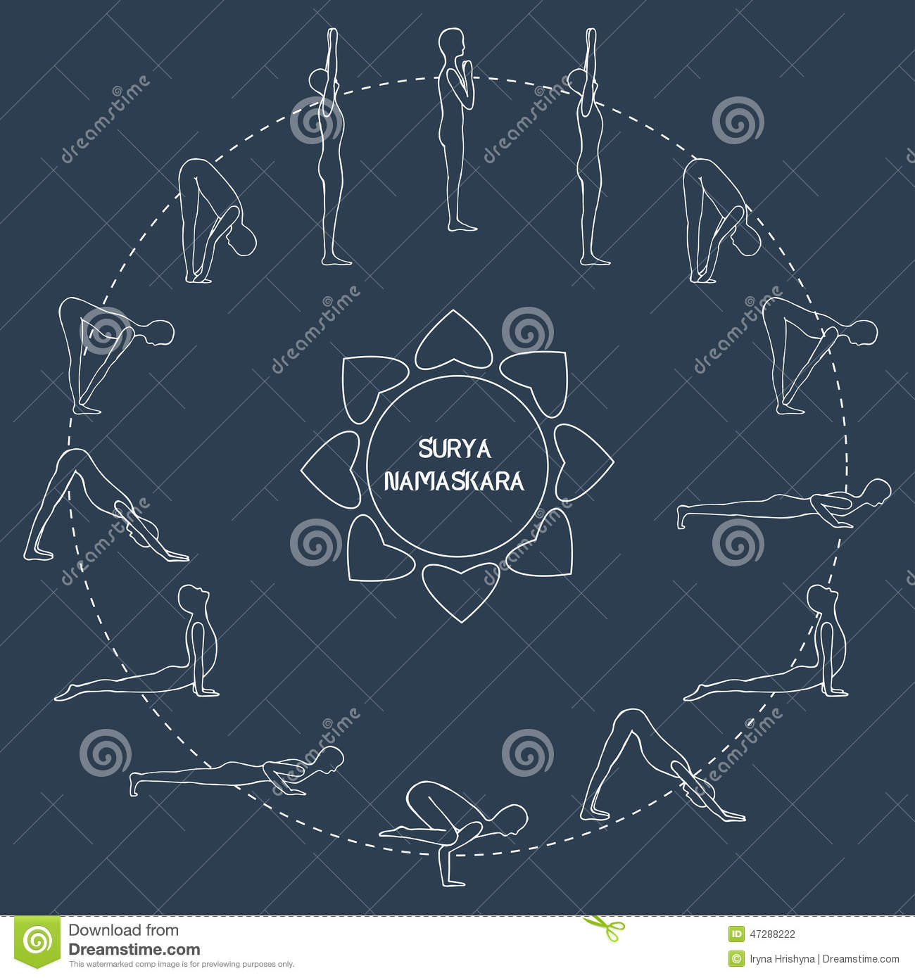 Cycle exercise in yoga sun salutation asanas stock cycle exercise in yoga sun salutation silhouette outline asanas vector stock photography kristyandbryce Images