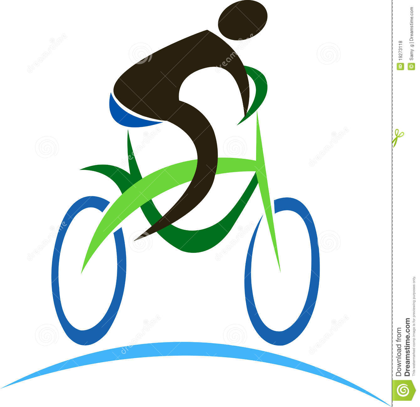 Illustration art of a cycle logo with isolated background.