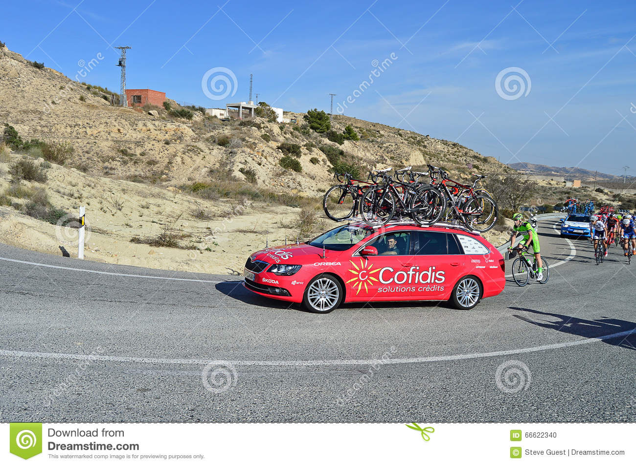 cycle racing cofidis support vehicle editorial image image 66622340. Black Bedroom Furniture Sets. Home Design Ideas