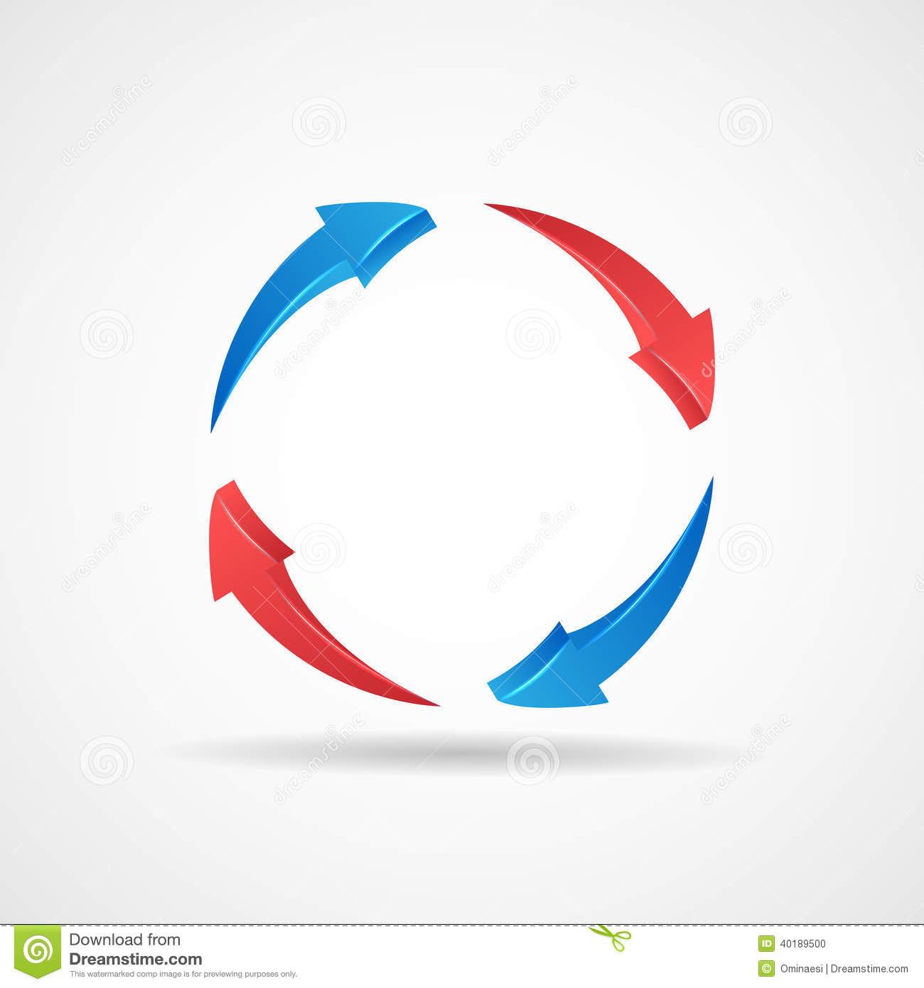 Vector: Cycle Update Symbol 3d Abstract Arrows Icon Design Template ...