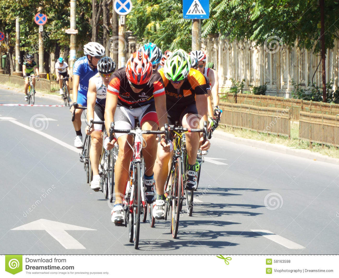 Royalty Free Stock Photos: Cycling competition in ...
