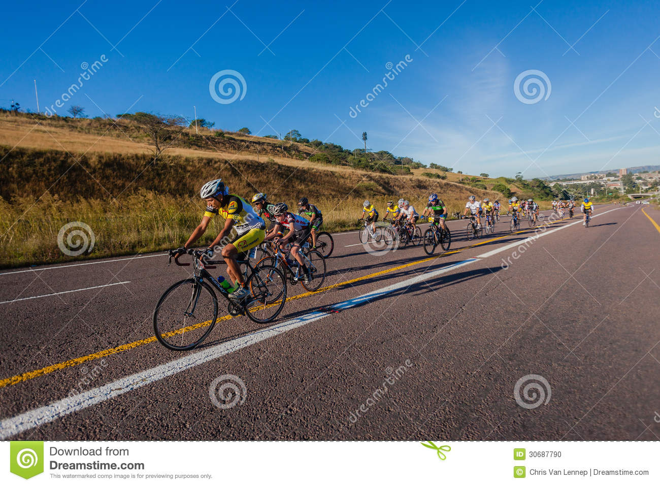 Cycling Race Pe-leton Hill Durban Editorial Image - Image: 30687790