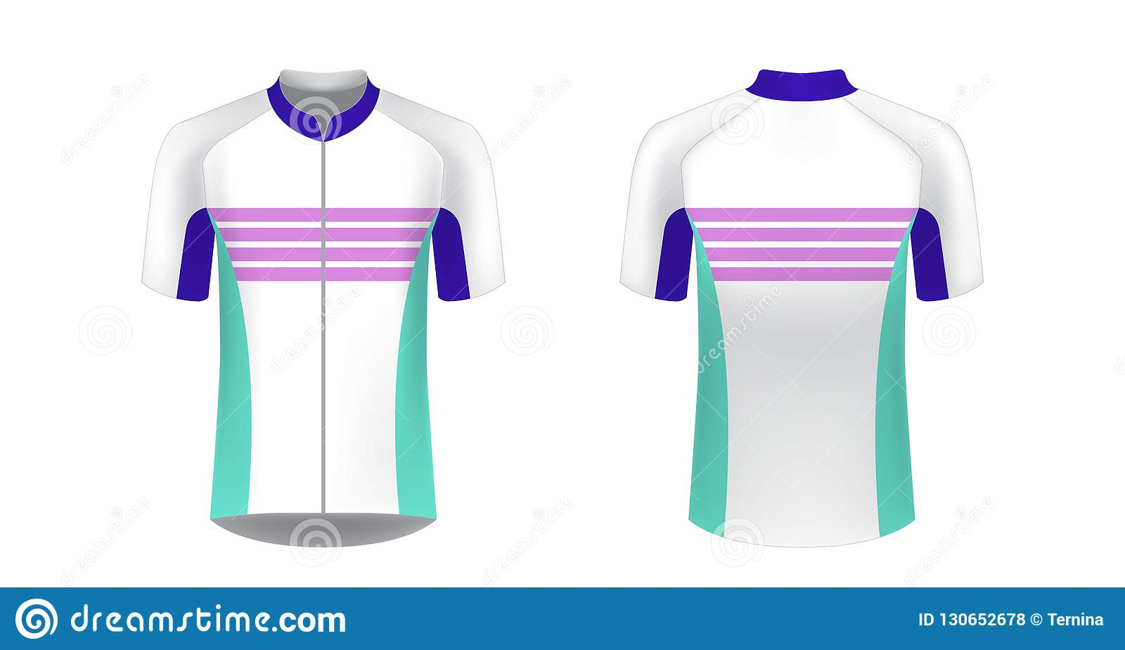 Cycling Jersey Mockup Stock Vector Illustration Of Front 130652678
