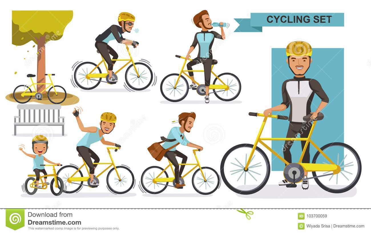 Cycling Man Stock Vector Illustration Of Cyclist City 103700059