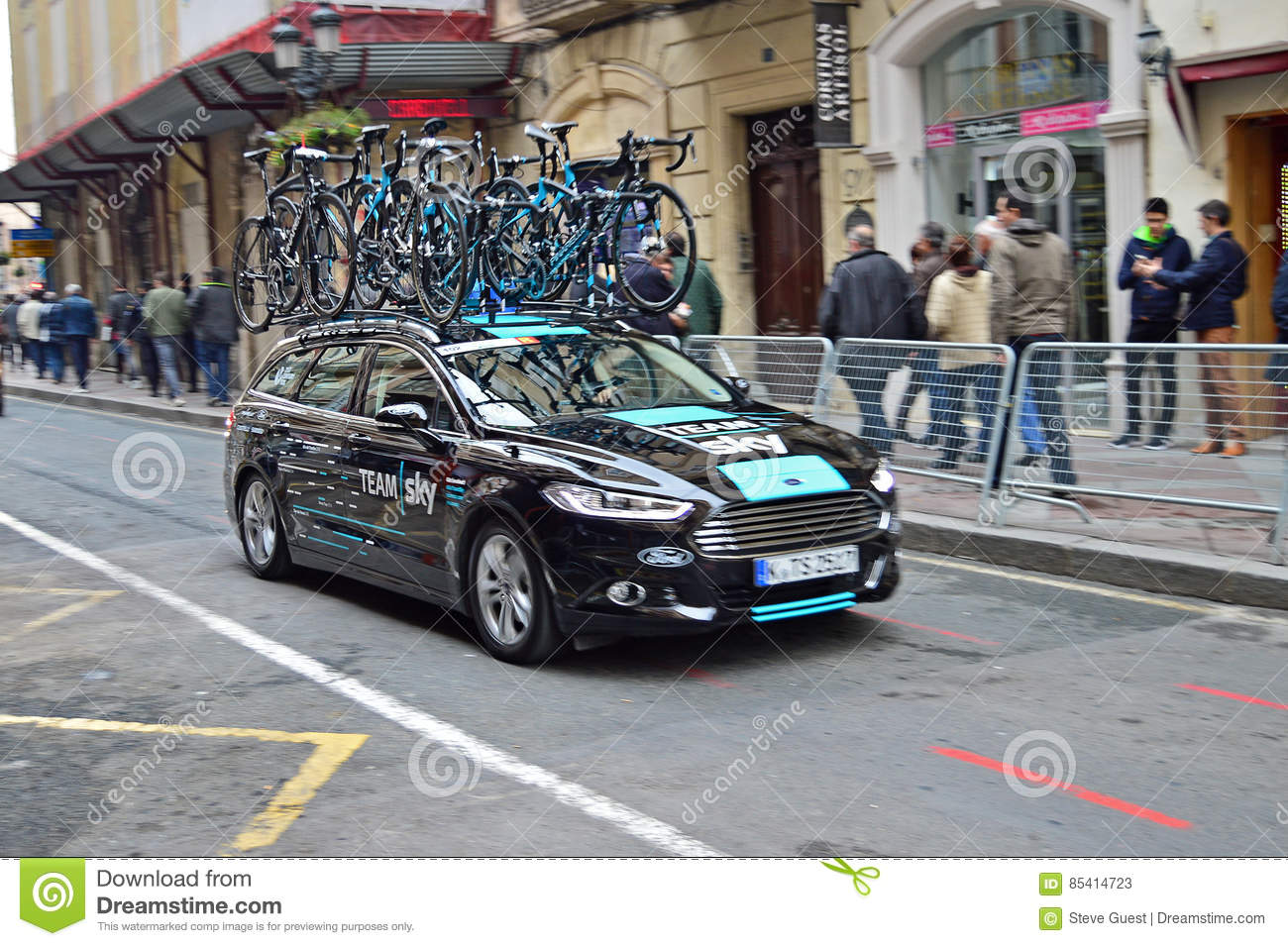 Cycling Team Sky Car And Bikes