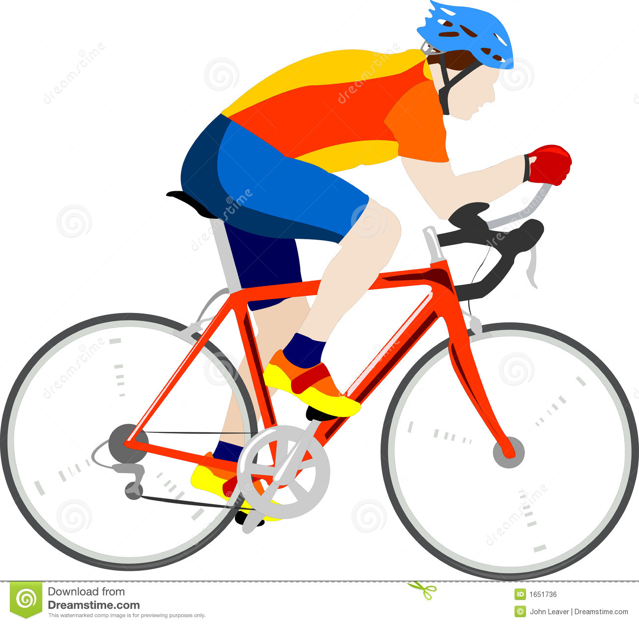Cyclist stock vector. Illustration of gloves, racing ...
