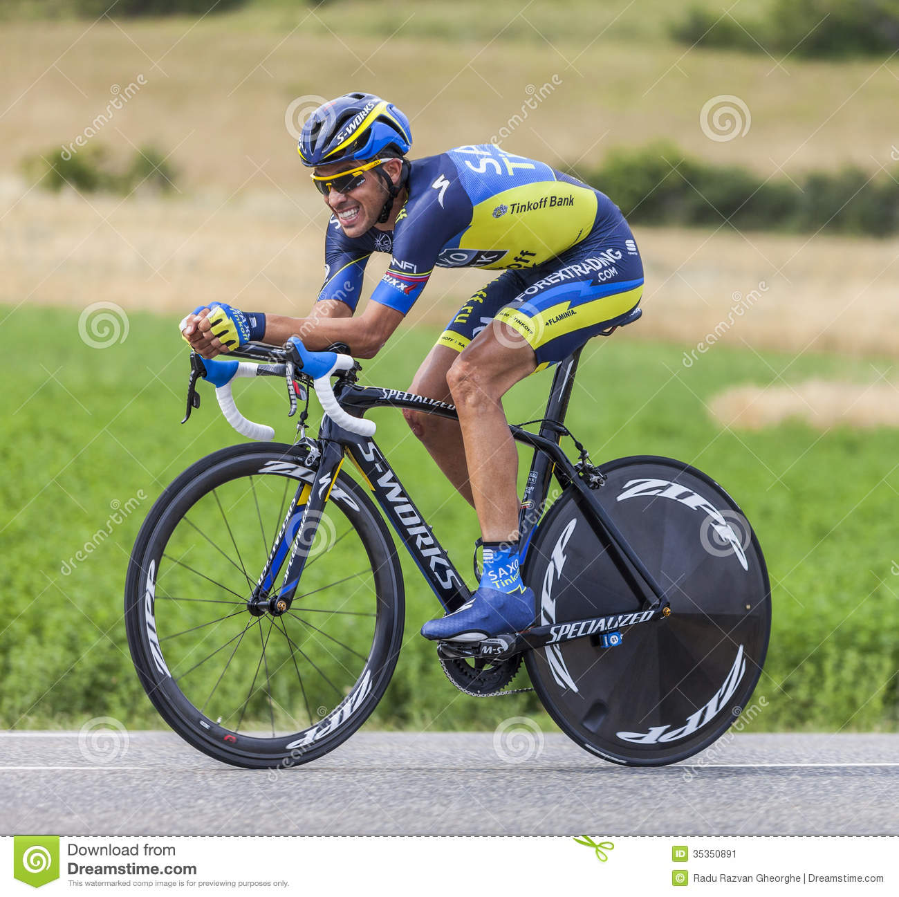 The Cyclist Alberto Contador Editorial Photo