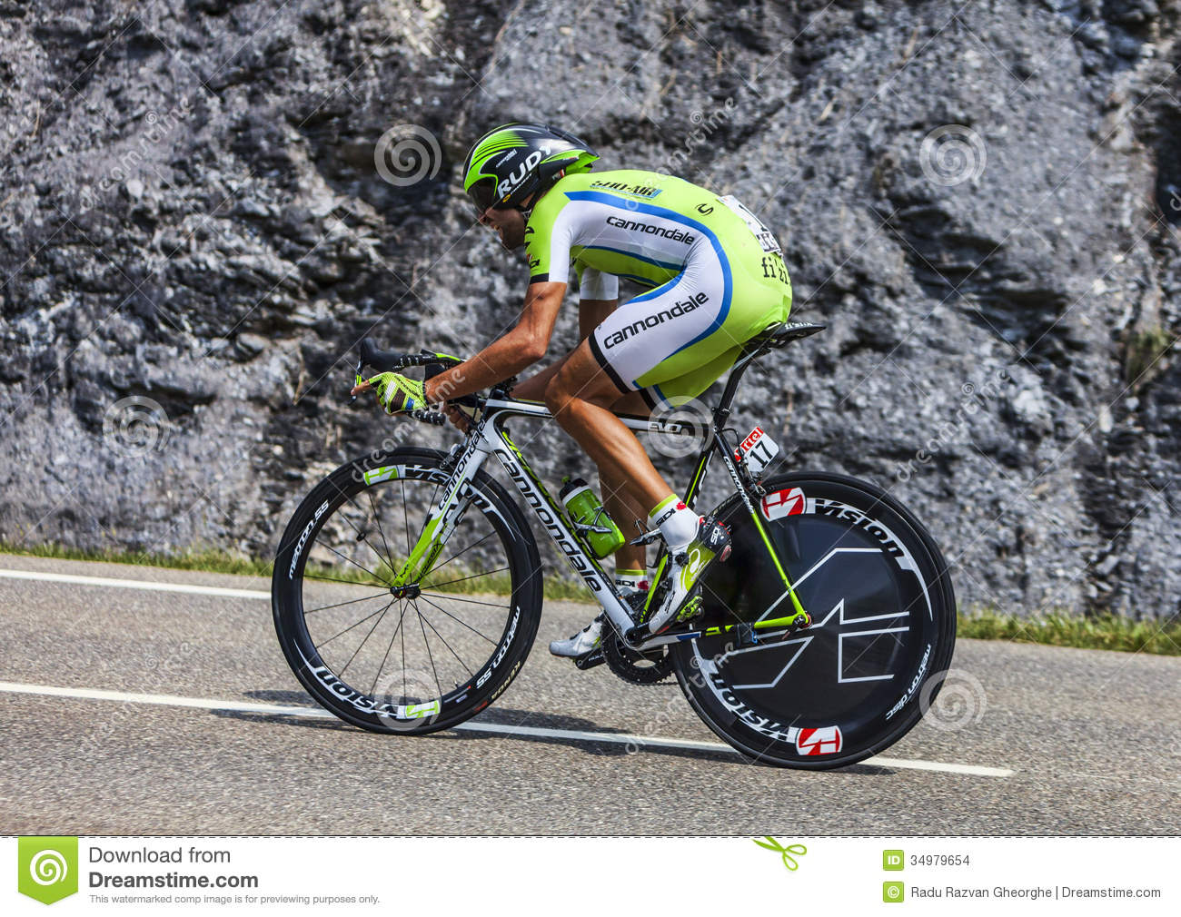 The Cyclist Moreno Moser editorial stock image. Image of ...