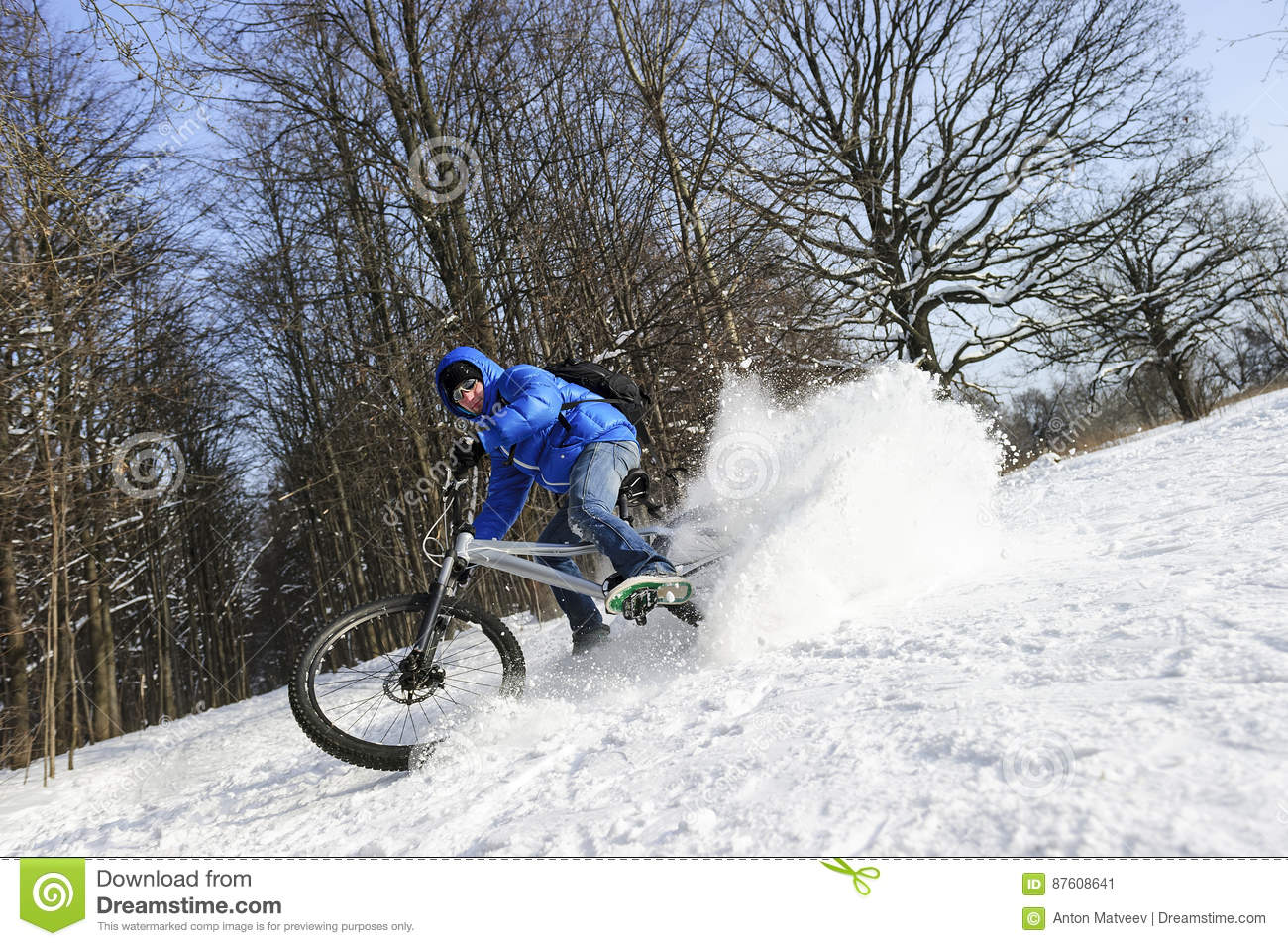 Cyclist on mountain bicycle