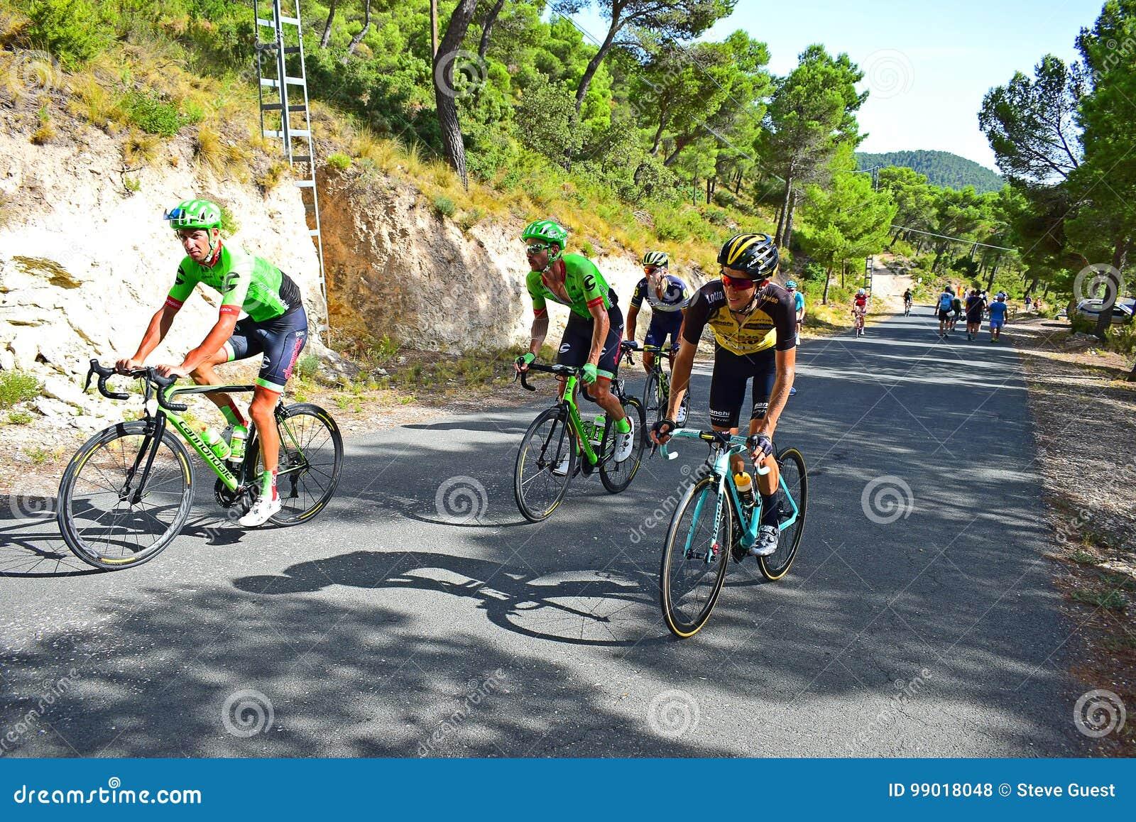 Racing Up A Hill La Vuelta España