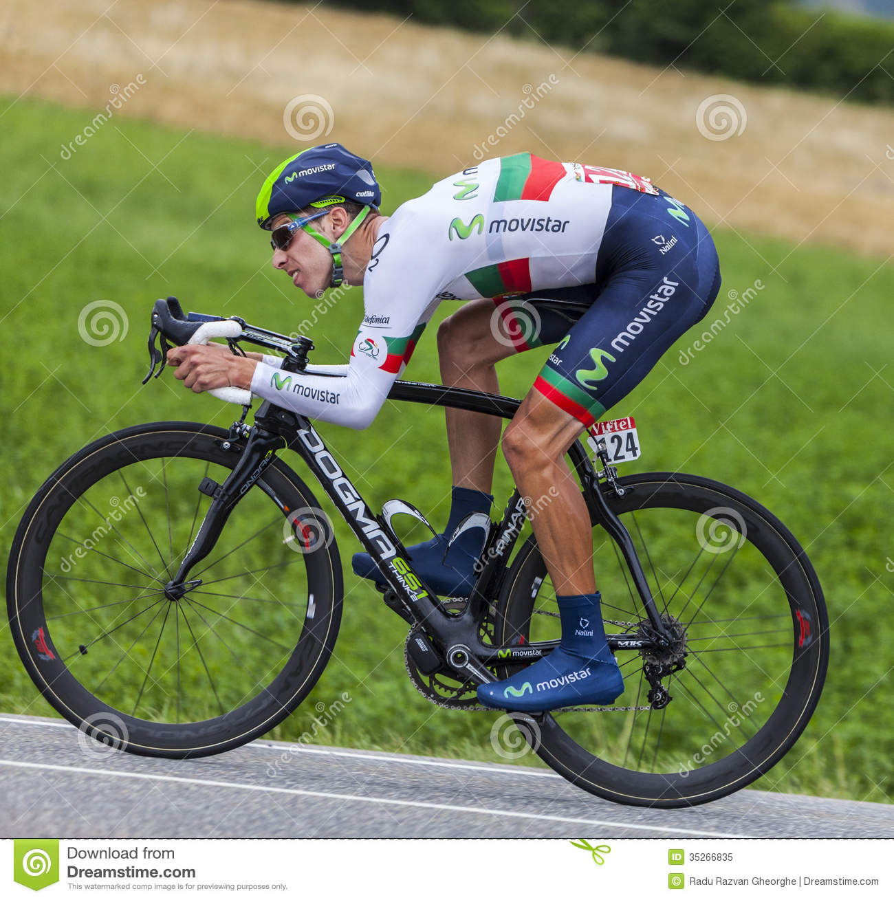 The Cyclist Rui Alberto Costa Editorial Image