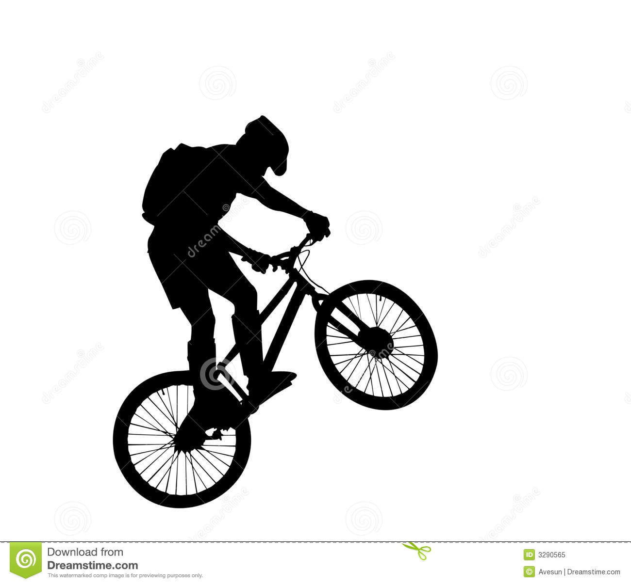 cyclist silhouette royalty free stock photo image 3290565
