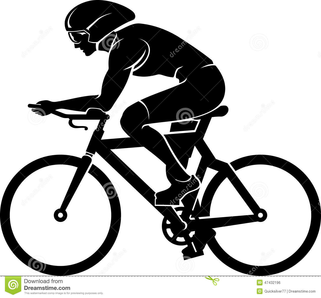 Cyclist silhouette stock illustration image 47432196