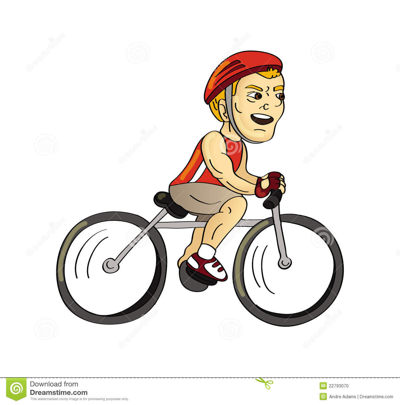 Cycliste photo stock image 22793070 - Cycliste dessin ...