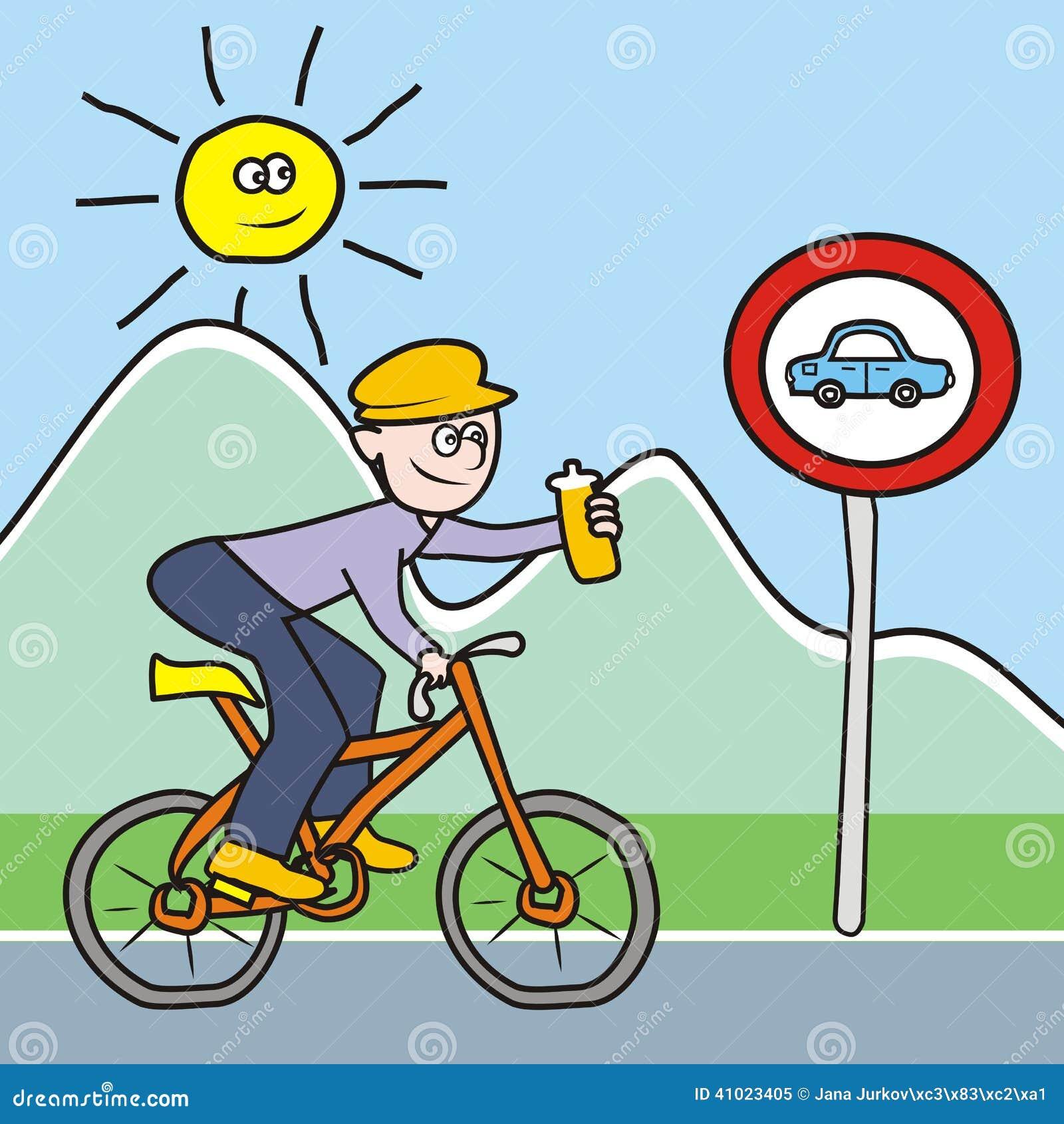 Cycliste avec la bouteille illustration de vecteur image 41023405 - Dessin cycliste humoristique ...
