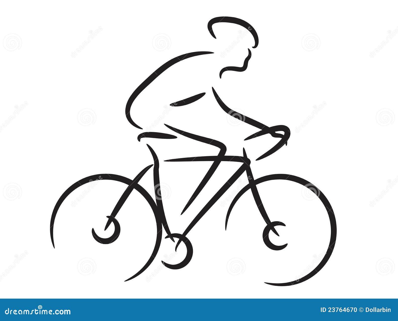 Cycliste de montagne illustration de vecteur illustration - Dessin cycliste ...