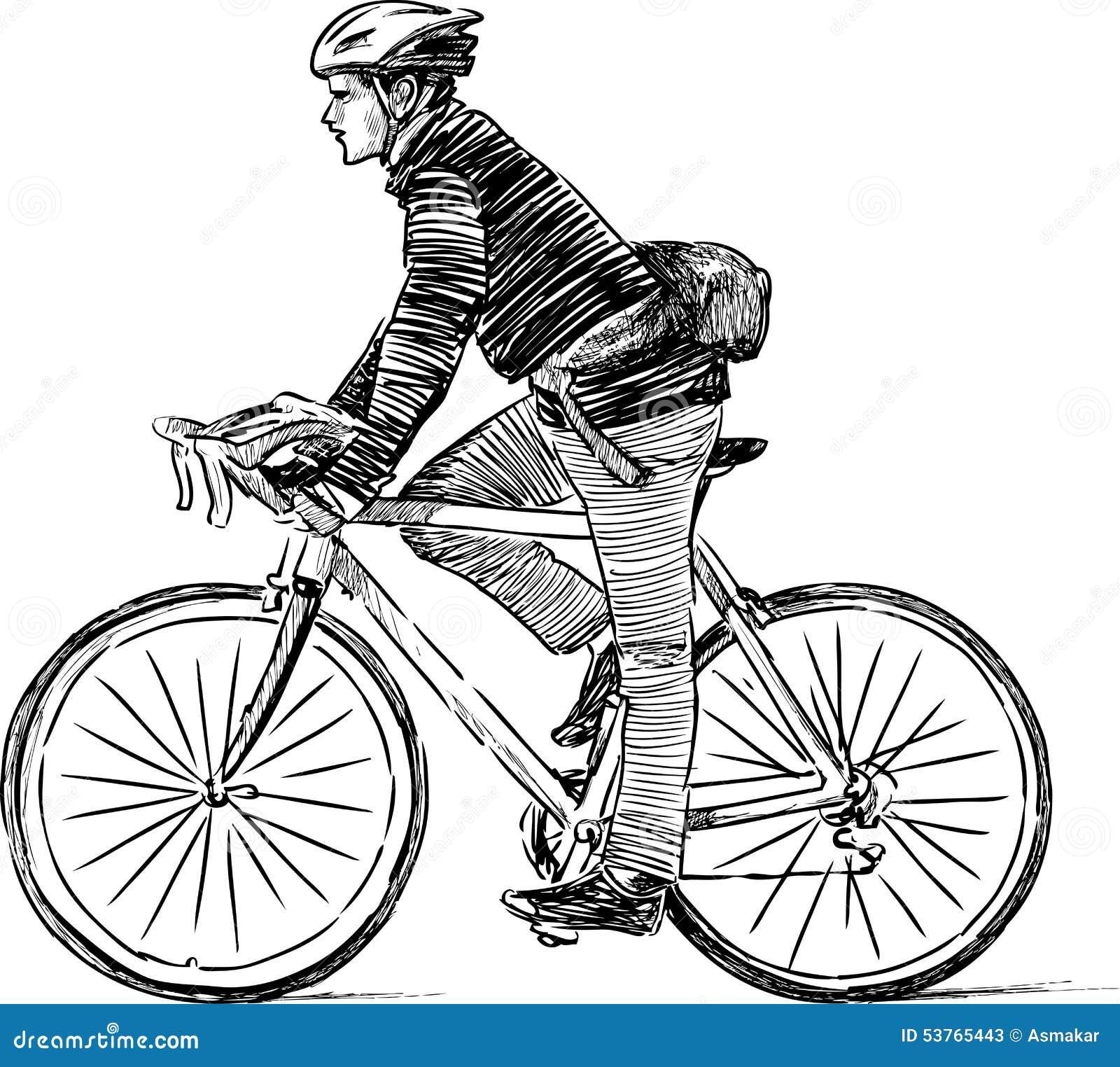 Cycliste urbain illustration de vecteur illustration du - Dessin cycliste ...