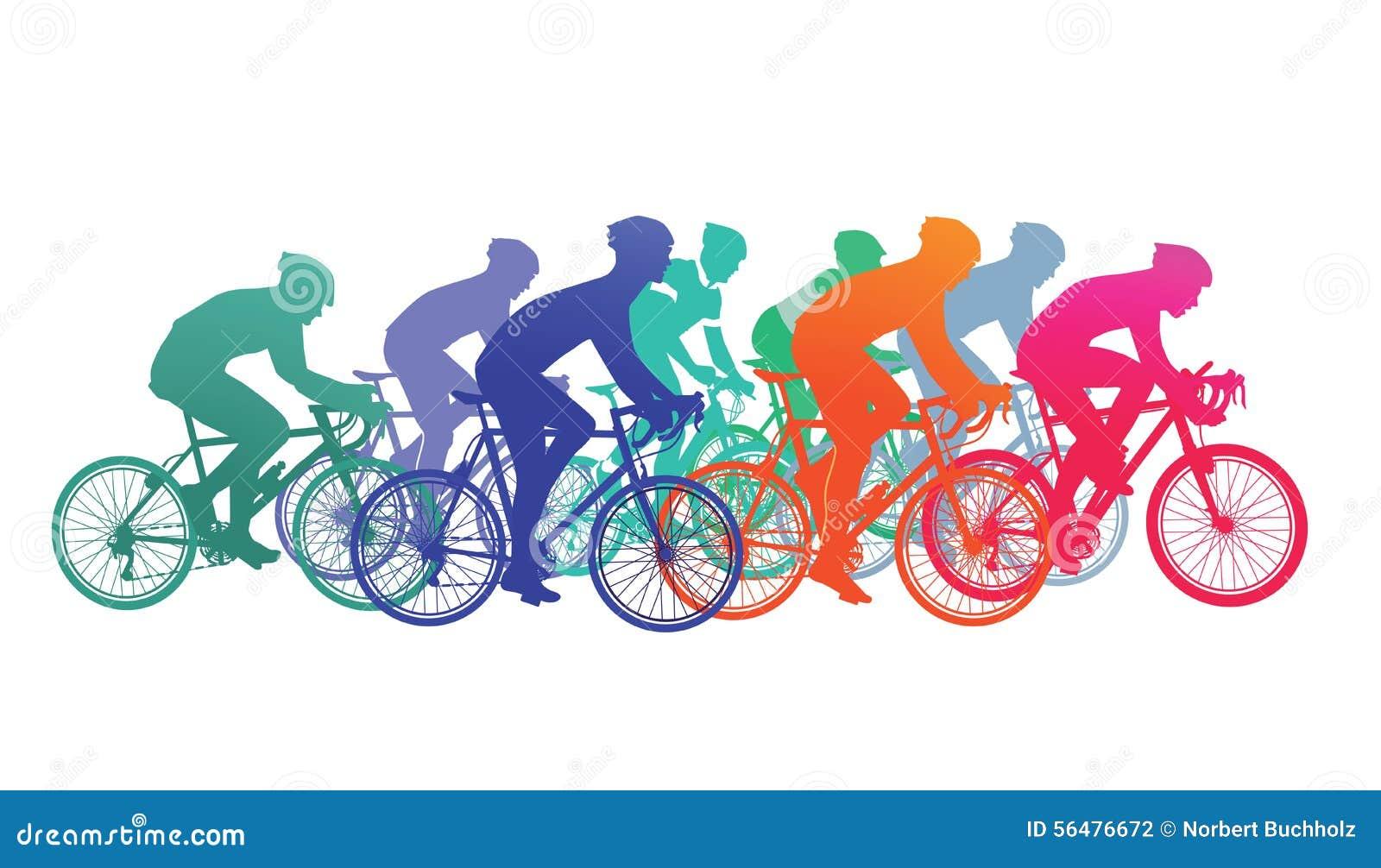 Cyclistes dans la course de vélo
