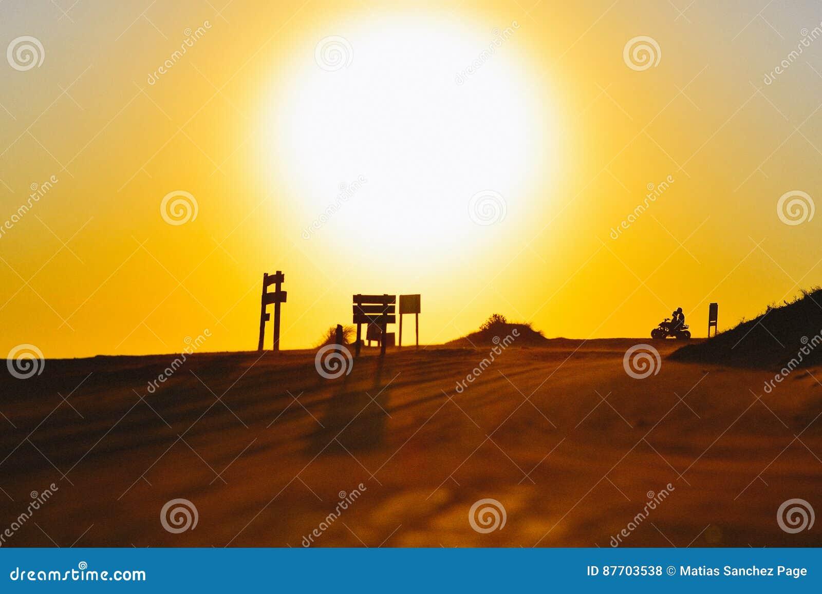 Cyclistes regardant fixement le soleil
