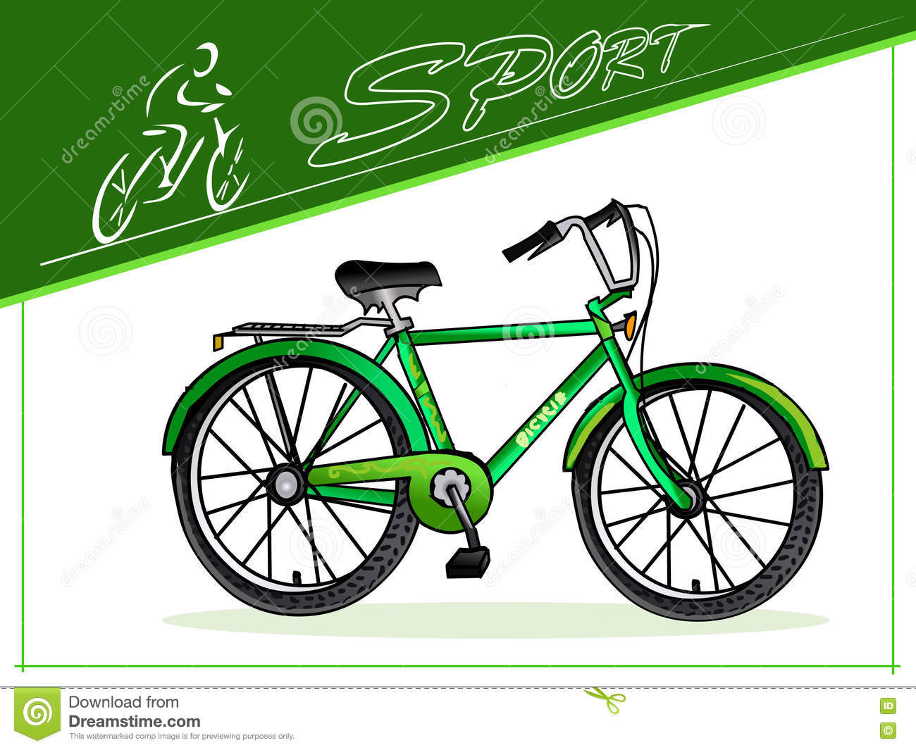 Cyclists. Bicycles For Different Purposes. Sports Men\'s And Women\'s ...