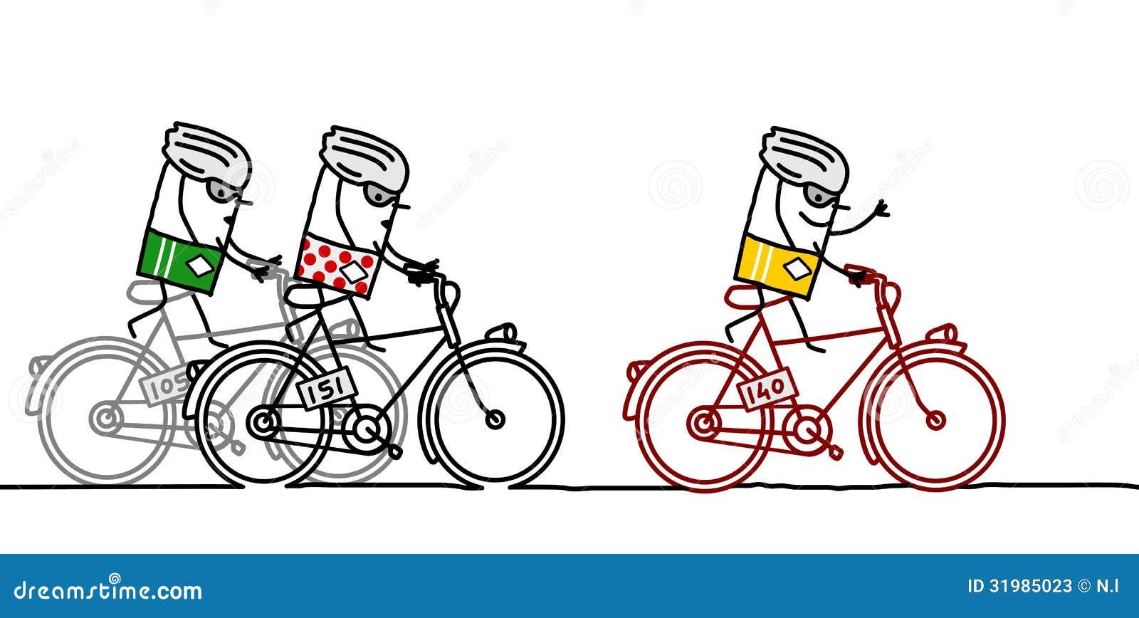 Cyclists Amp Tour De France Stock Vector Illustration Of