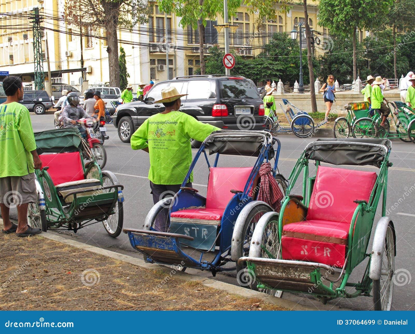 Cyclos w Phnom Penh, Kambodża