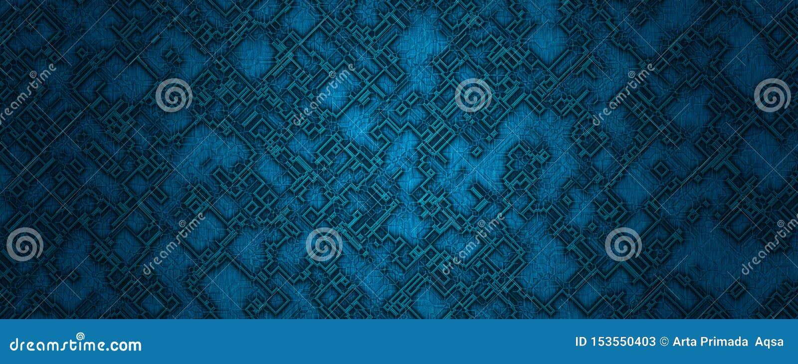 Cyfrowego błękita kwadrata kształta ilustracyjny abstrakcjonistyczny materialny tło