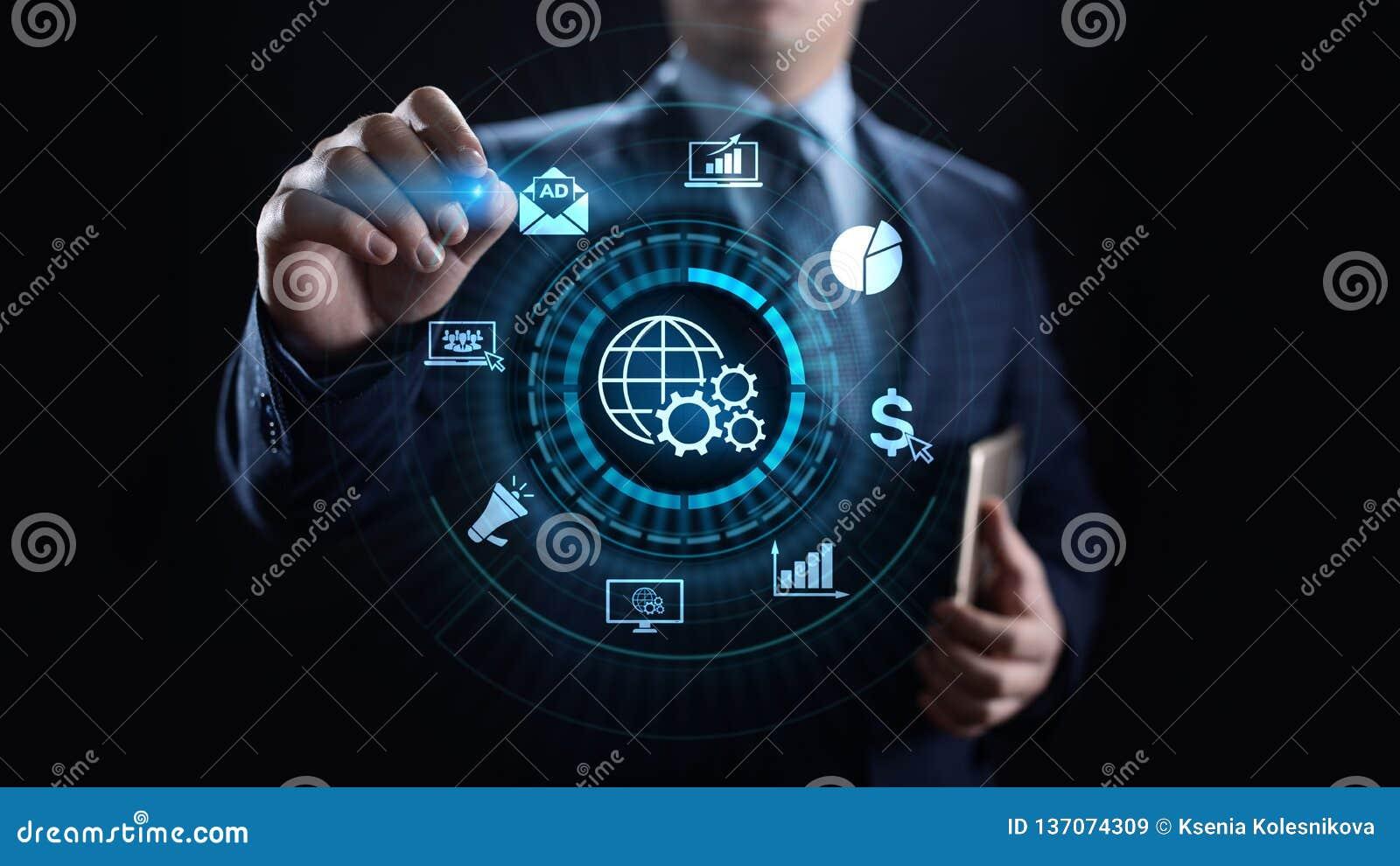 Cyfrowego interneta marketingowa reklama i sprzedaże wzrastamy biznesowego technologii pojęcie