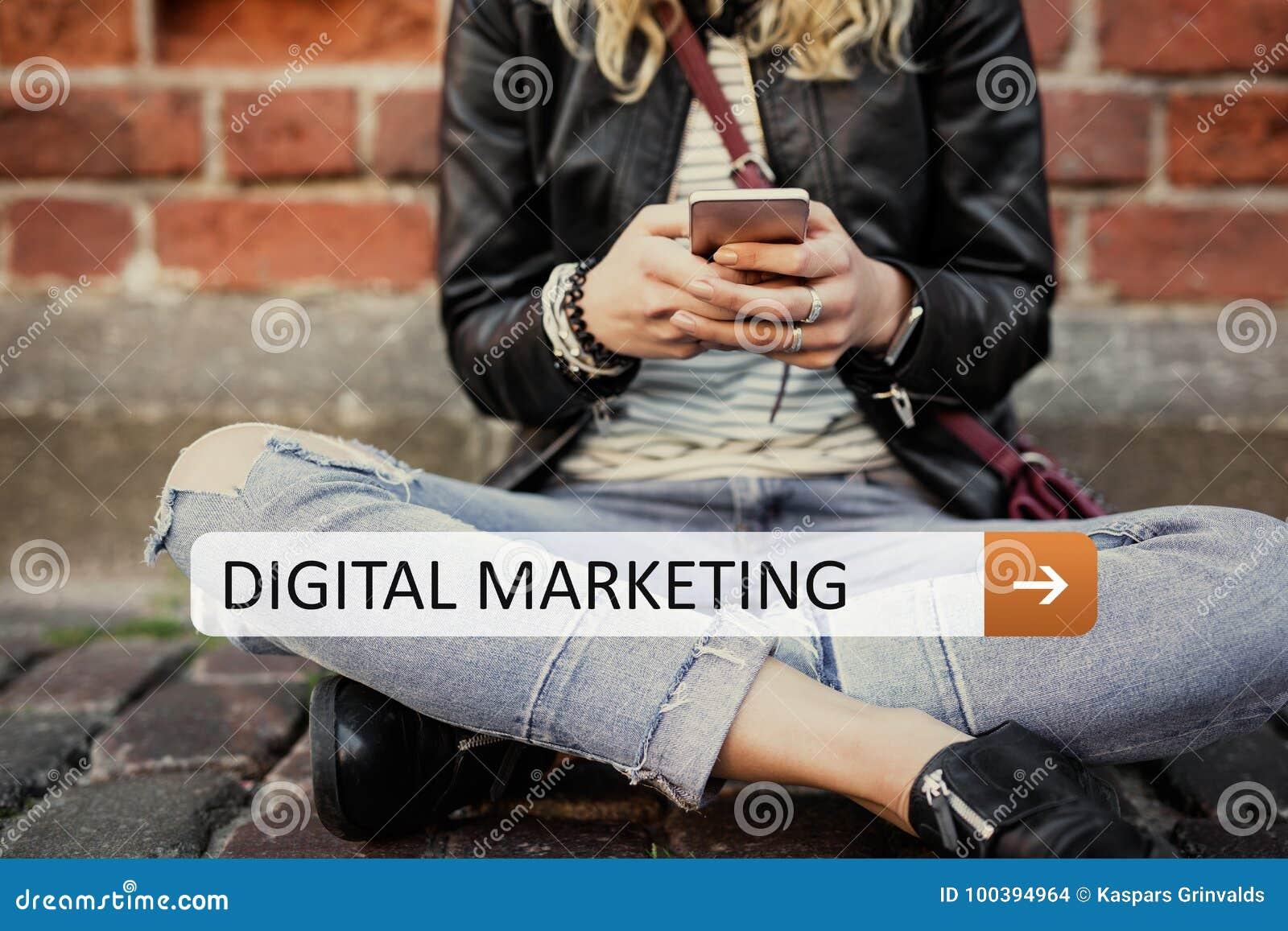 Cyfrowego marketing na twój urządzeniu przenośnym