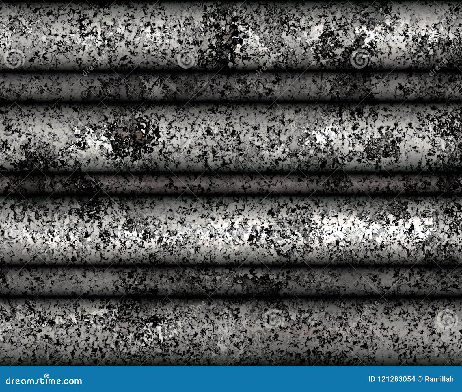 Cyfrowego obrazu metalu płytki Nieociosana tekstura z Srebnym koloru tłem