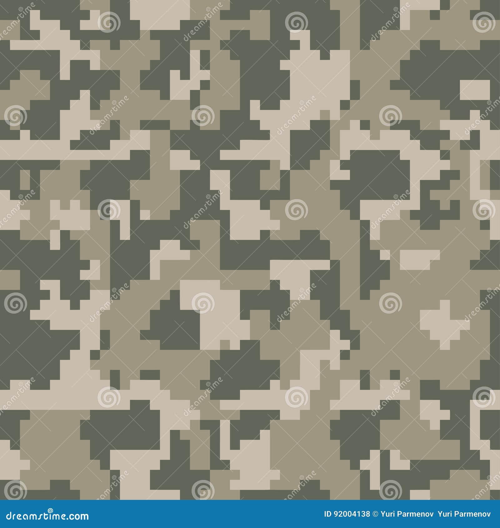 Cyfrowego piksla zieleni kamuflażu bezszwowy wzór dla twój projekta Ubraniowy wojskowy projektuje