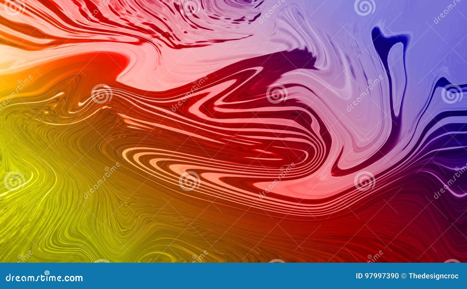 Cyfrowego spływania skutka zieleni menchii błękita kruszcowa atłasowa abstrakcjonistyczna tapeta