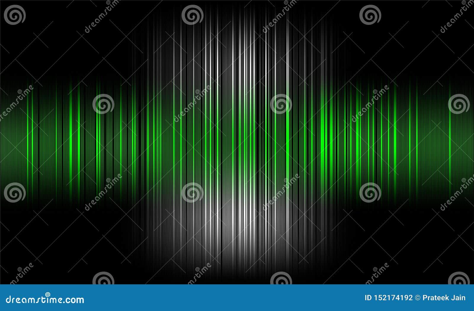Cyfrowego wyrównywacza audio rozsądne fale na czarnym tle, stereo efekta dźwiękowego sygnał