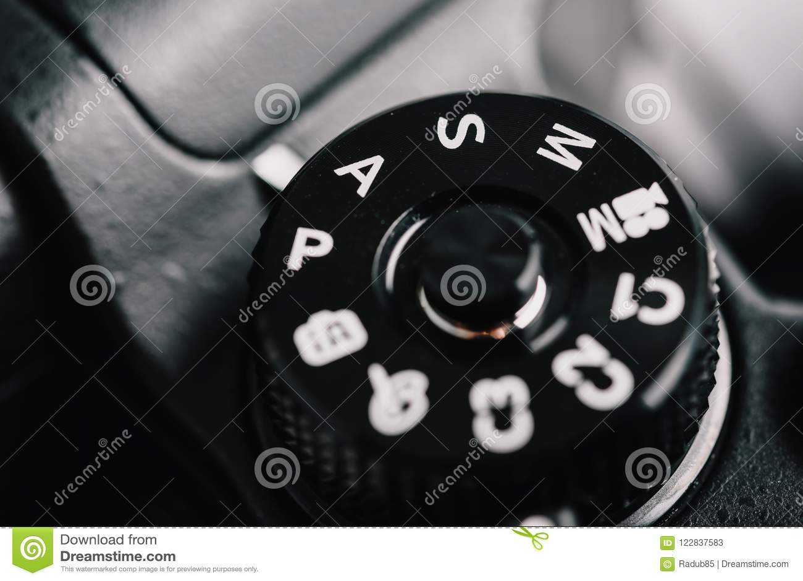 Cyfrowej kamery Kontrolna tarcza Pokazuje aperturę, żaluzi prędkość, manuał i programów tryby,