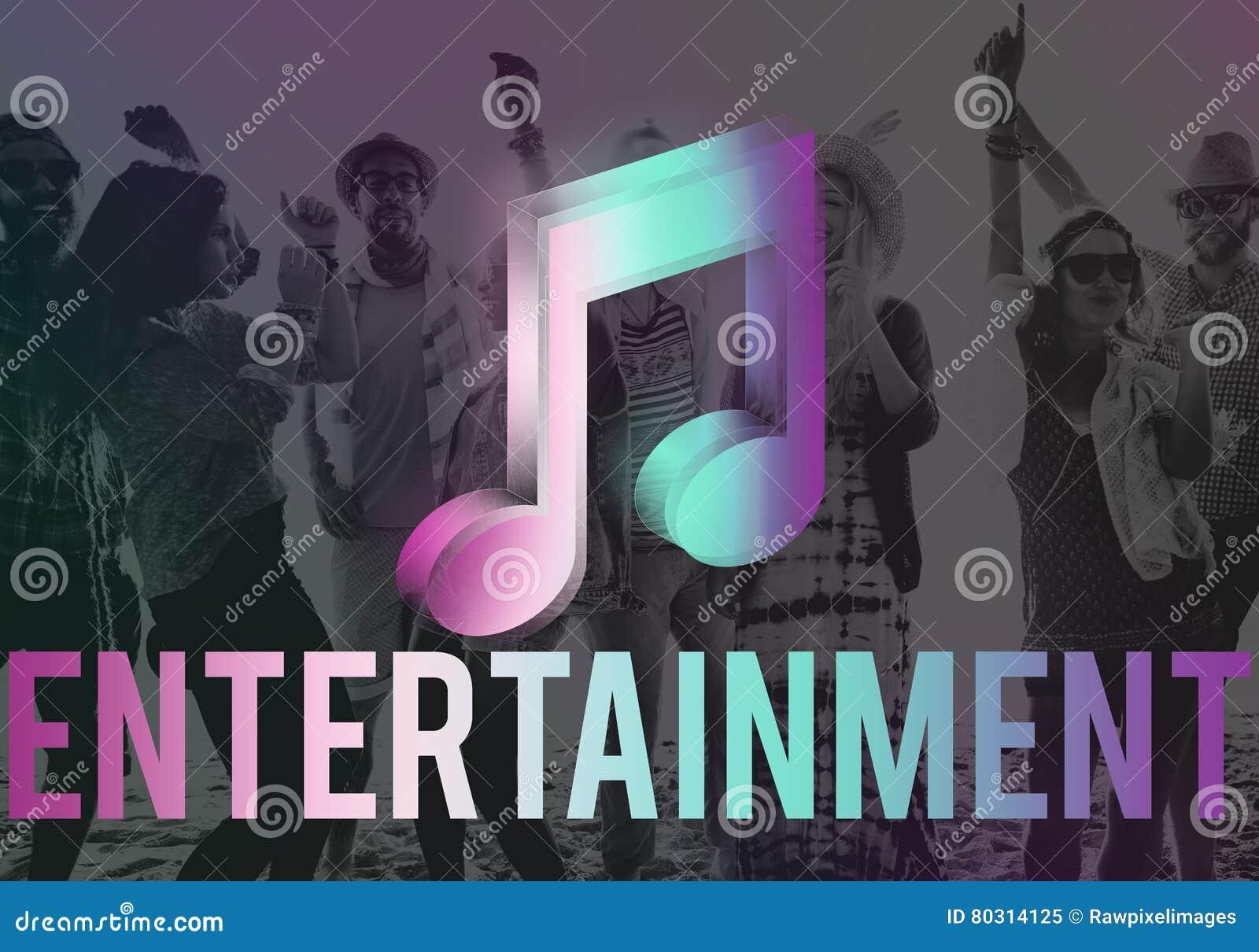 Cyfrowej muzyka Leje się Online rozrywka środków pojęcie