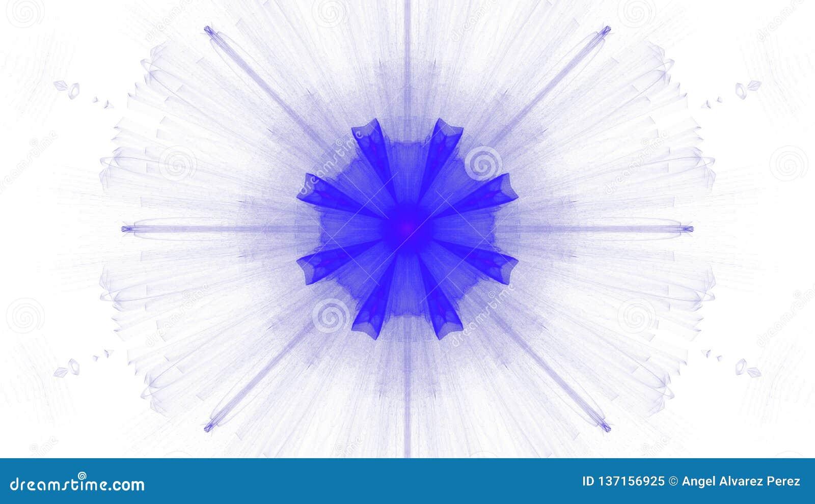 Cyfrowej sztuki projekta błękitny wibrujący na białym tle