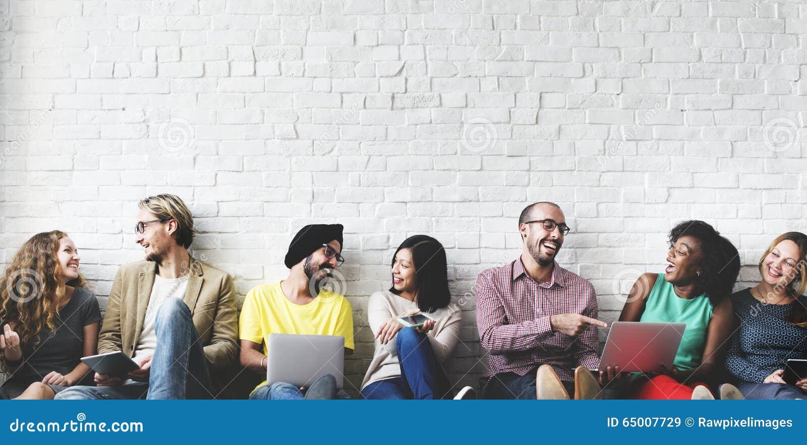 Cyfrowej technologii networking drużyny Podłączeniowy pojęcie