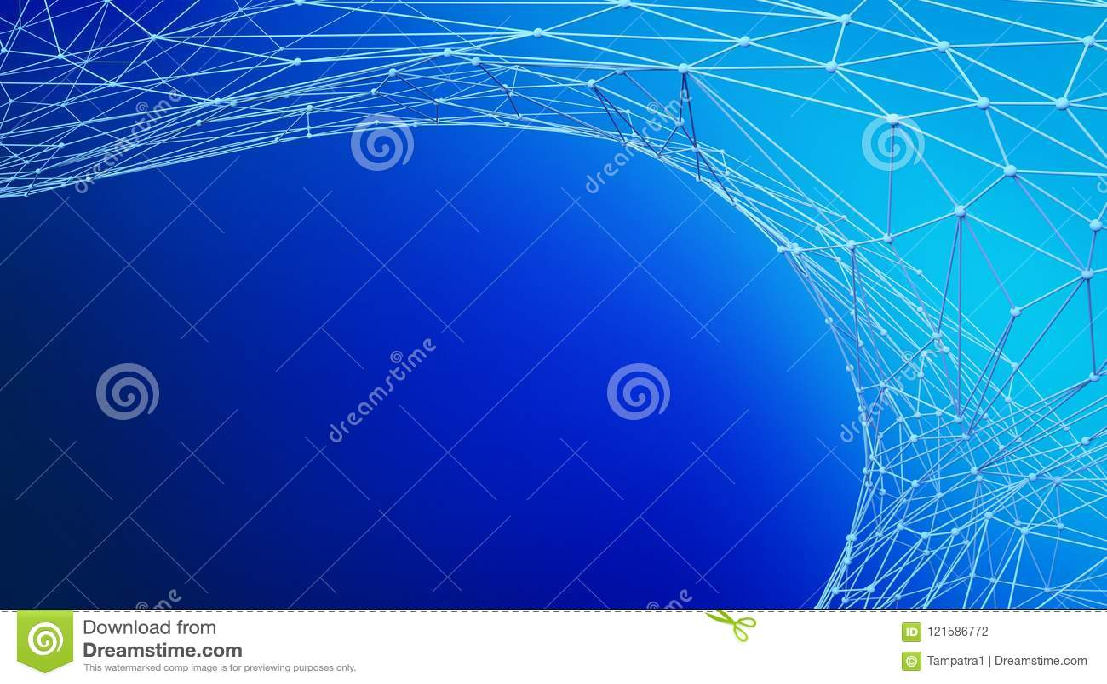 Cyfrowi dane i błękitna sieć związku struktura dla architekta